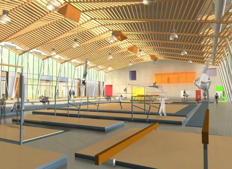Adh architectes gymnase et dojo d 39 arts martiaux l for Piscine universitaire talence